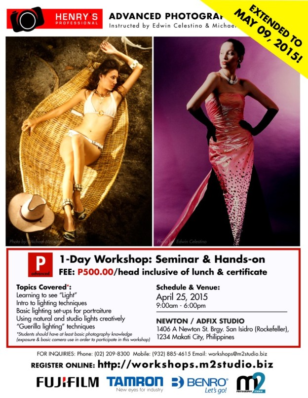 EXTENDED TO MAY 09 2015! Advanced Photography Workshop