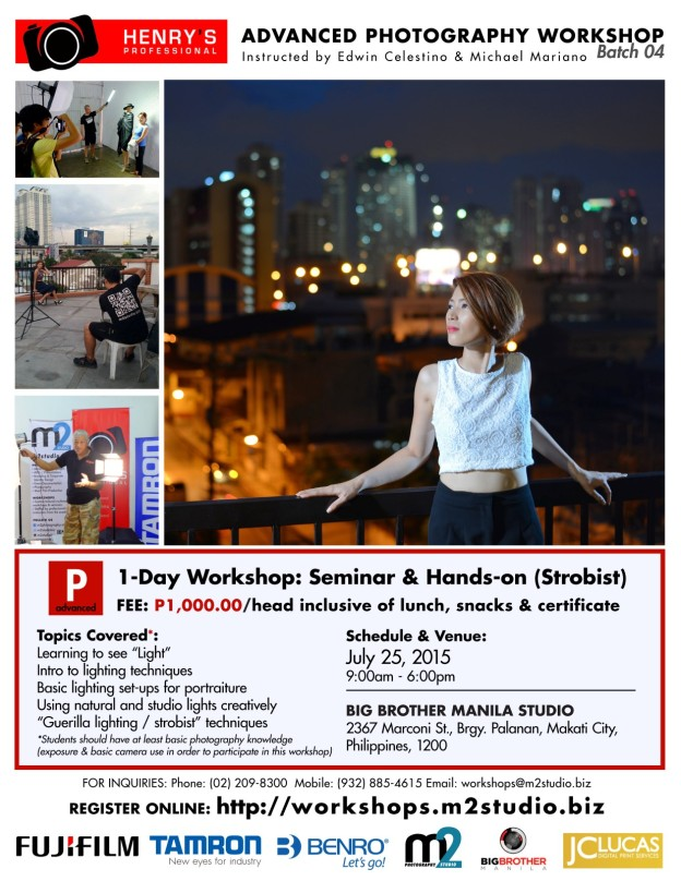 Henry's Advanced Photography Workshop - July 25, 2015