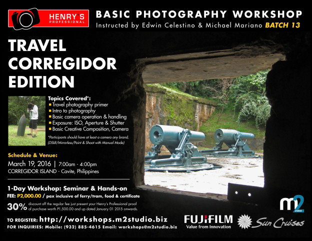 Henry's Professional M2 Workshops Travel Corregidor