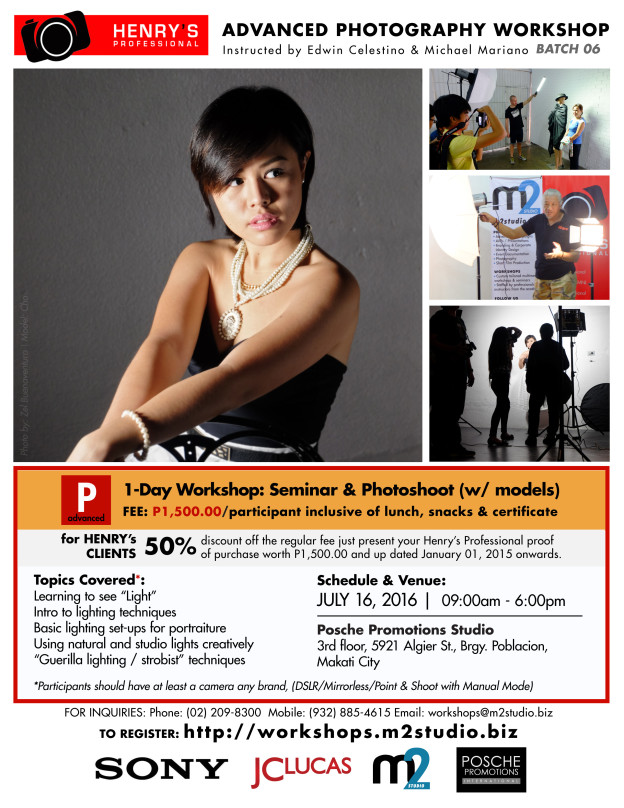 Henry's Advanced Photography Workshop July 16, 2016