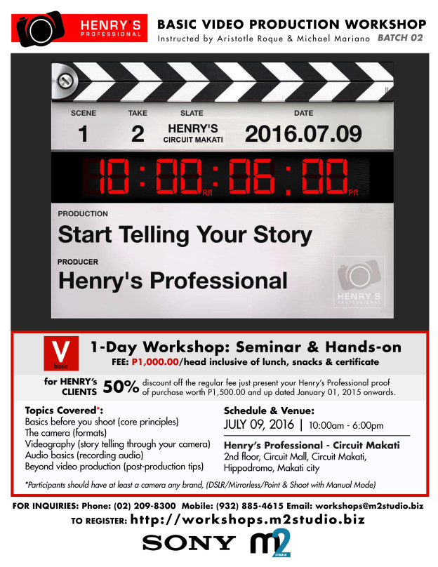 Basic Video Production Workshop - Batch 02