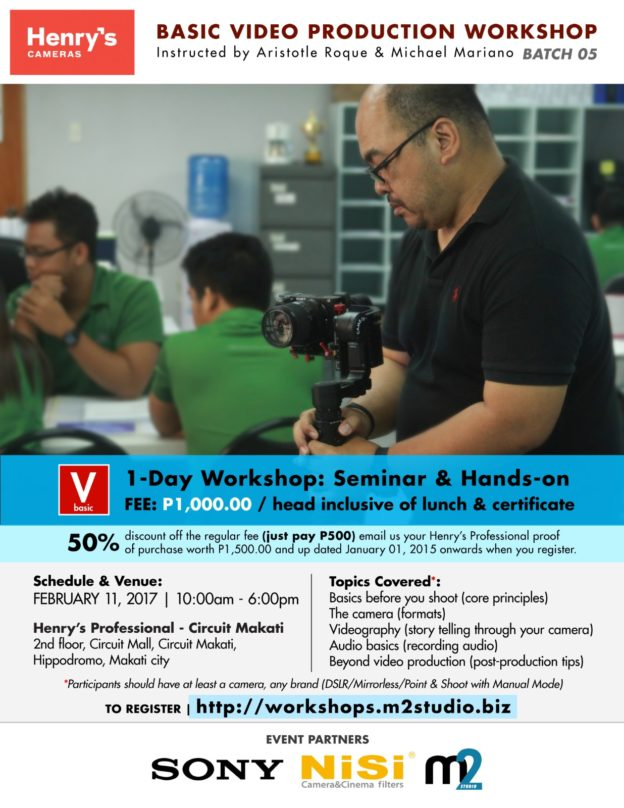 Henry's Professional Basic Video Production Workshop - Batch 05