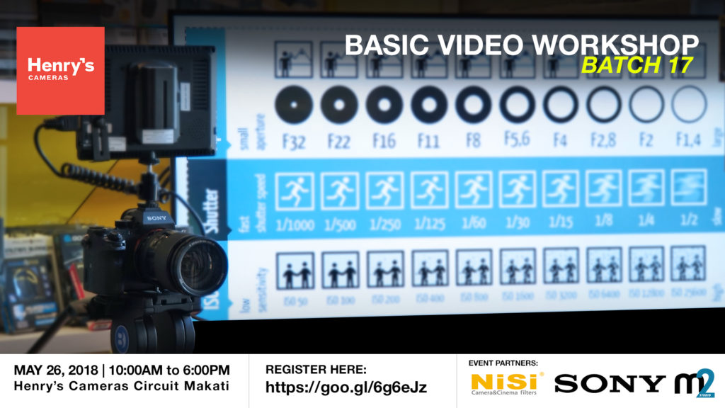 Henry's Cameras Basic Video Production Workshop - Batch 17 | M2 Studio Philippines