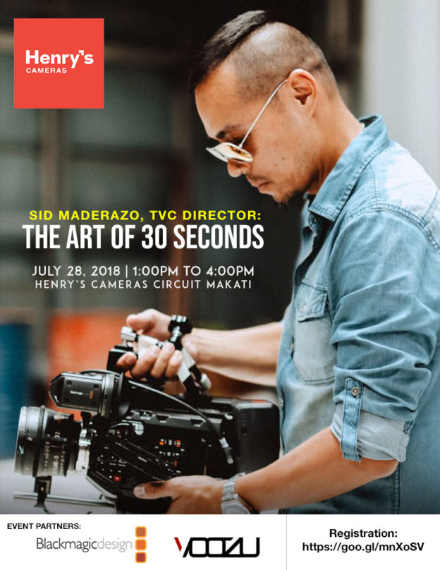 The art of 30 seconds by Director Sid Maderazo | Henrys | Voozu | M2 Studio