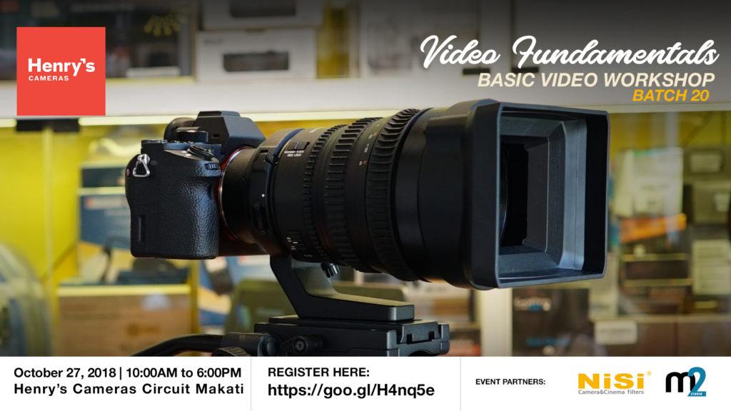 Henry's Cameras Basic Video Production Workshop - Batch 20   M2 Studio Philippines