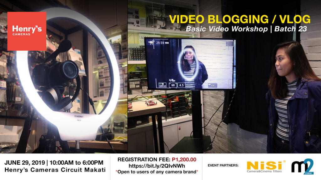 Henry's Cameras Video Blogging Workshop - Batch 23 | M2 Studio Philippines